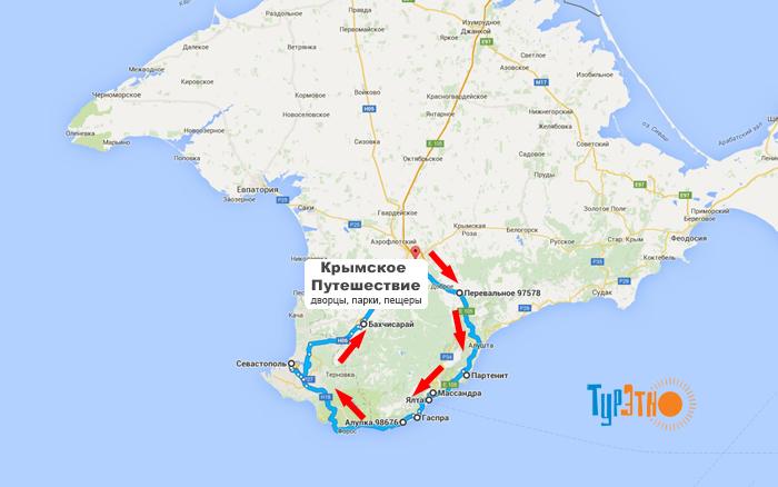 Крымские путешествие