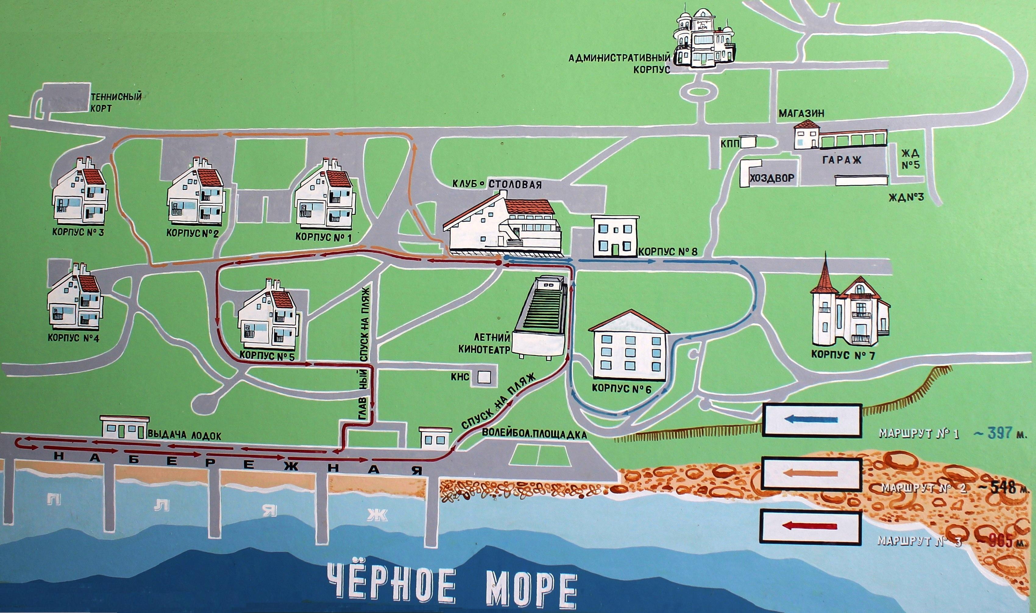 Схема санатория мисхор